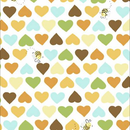 Susybee Hearts & Bees - Light Gold