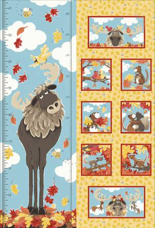 Bruce the Moose Growth Chart 30in x 44in