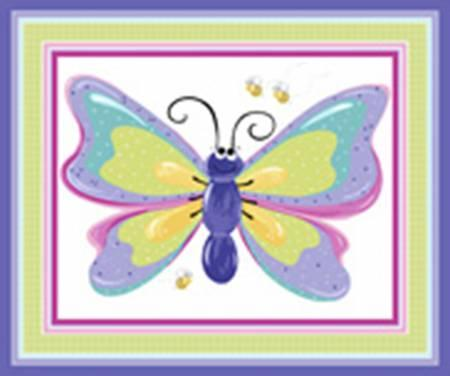 Lilac Flutter Play Mat 36in x 43/44in