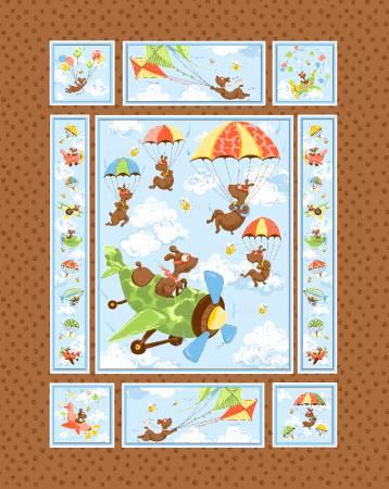 Zig, Flying Ace Quilt Panel 36in x 44in