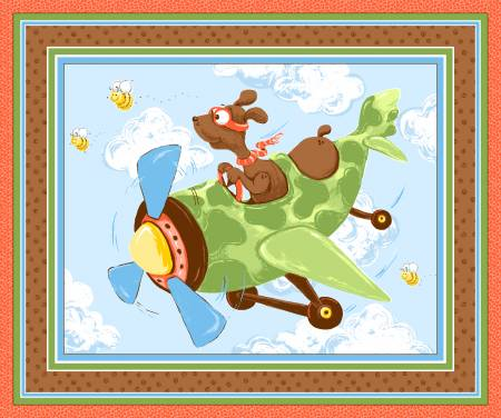 Zig Flying Ace Wallhanging or Play Mat 36in x 43/44in