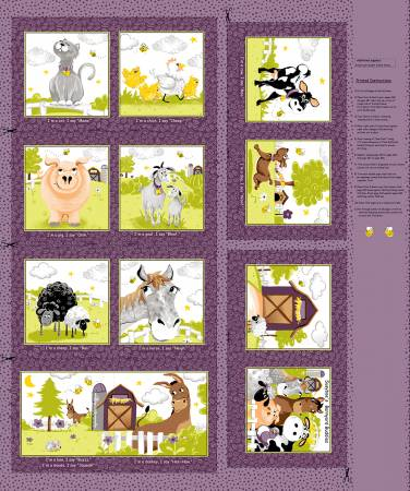 Purple Barnyard Buddies Blocks