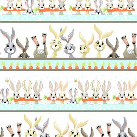 SUSYBEE White Harold the Hare Pictorial Stripe SB20374-100