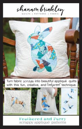 Feathered and Furry Scrappy Applique Pattern