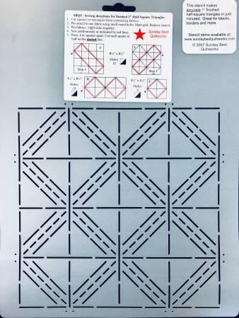 Half Square Triangle Stencil 1in *