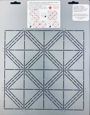 Half Square Triangle Stencil 1-1/2in