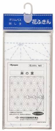 Sashiko sampler Traditional Design Asa-no-ha White
