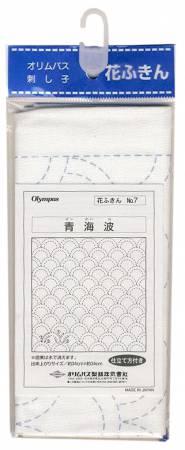 Sashiko sampler Traditional Design Seikaiha White