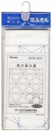 Sashiko sampler Traditional Design Tobi-Asa-no-ha White