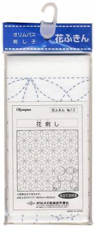 Sashiko sampler Traditional Design Hana-zashi White