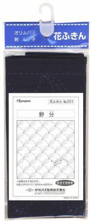 Sashiko sampler Traditional Design Nowaki Navy