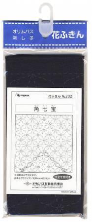 Sashiko sampler Traditional Design Kaku-shippo Navy