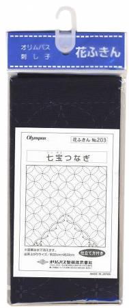Sashiko Traditional Design Shippo-tsunagi Navy
