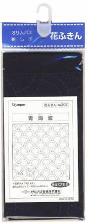 Sashiko sampler Traditional Design Seikaiha Navy