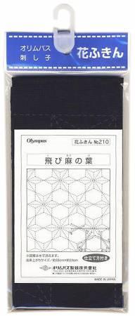 Sashiko sampler Traditional Design Tobi-Asa-no-ha Navy