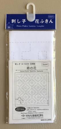 Sashiko Sampler Kaki-no-Hana Large White