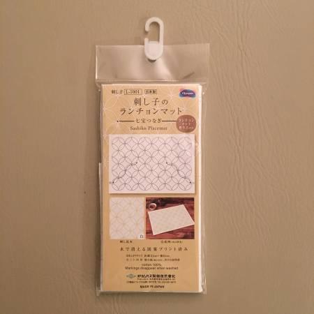 Sashiko Sampler Placemat Shippo-Tsunagi White