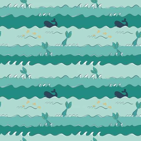 SC10344-SEAFOAM Oceans Ahoy Mermaids by Melissa Mortenson Riley Blake