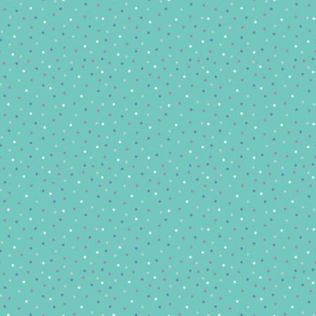 Unicorn Kingdom Sparkle Dots Teal