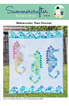 Watercolor Sea Horses