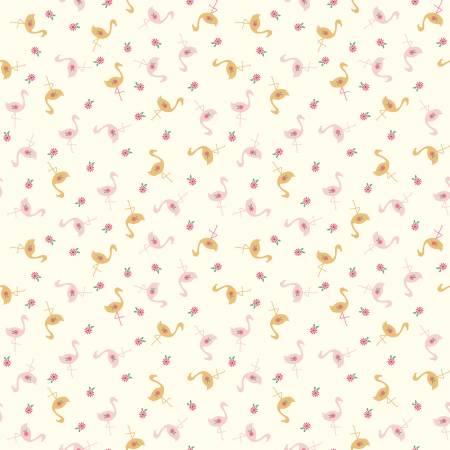 Stardust Flamingos Vintagewhite
