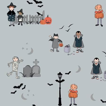Spooky Hollow Main Gray Sparkle