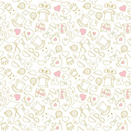 Wonderland 2 Tea Party White SC5774