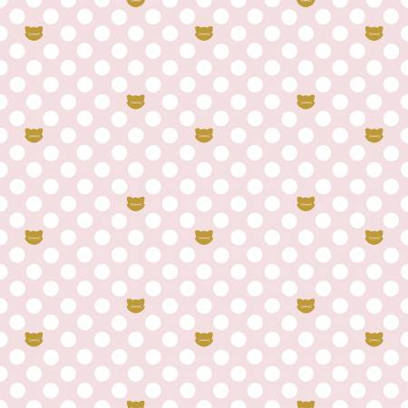 Chloe And Friends Cat Dot Sparkle Pink