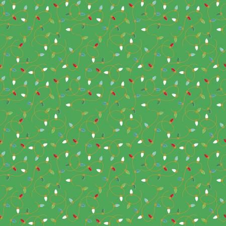 Santa Claus Lane Lights Green