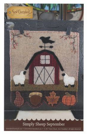 Simply Sheep September Wool Kit, 8 x 9 designed by Dawn @ Sew Cherished