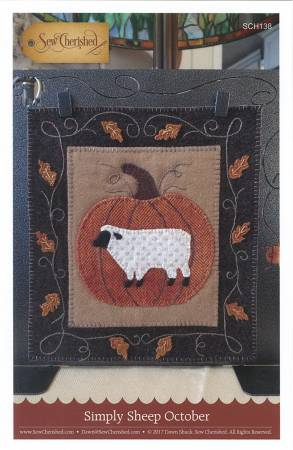Simply Sheep October Wool Kit, 8 x 9 designed by Dawn @ Sew Cherished