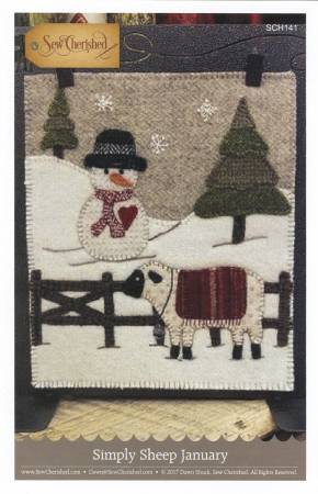 Simply Sheep January - Wool Pattern - Sew Cherished