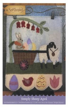 Simply Sheep April Wool Kit, 8 x 9 designed by Dawn @ Sew Cherished