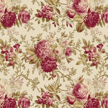 Ecru Large Floral by Savannah Classics - Multi