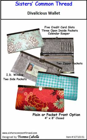 Divalicious Wallet by Yvonne Cabella for Sister' Common Thread