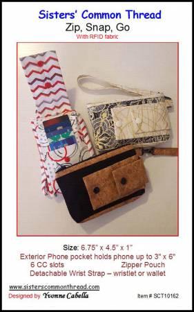 PT Zip, Snap, Go w/RFID Fabric