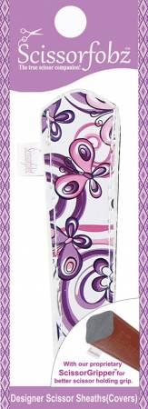 Scissor Sheath for Embroidery Micro Scissors Purple Floral Garden