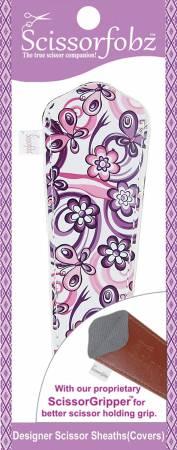 Scissor Sheath for Large Scissors Purple Floral Garden