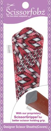 Scissor Sheath for Large Scissors Awesome Red Quilting Blast Print