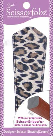 Scissor Sheath for Large Scissors MicroSuede Leopard Skin Print