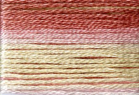 Cosmo Seasons Variegated Embroidery Floss Pinks/Cream
