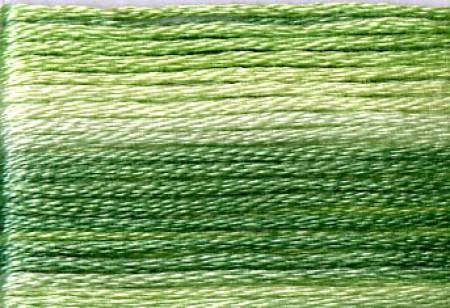Cosmo Seasons Variegated Embroidery Floss Greens