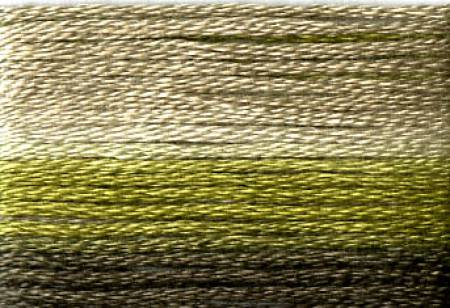 Cosmo Seasons Variegated Embroidery Floss Dark Greens