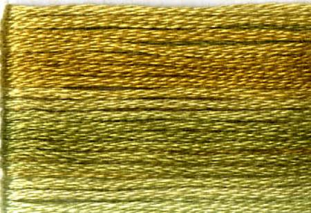 Cosmo Seasons Variegated Embroidery Floss Greens/Golds