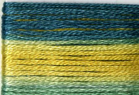 Cosmo Seasons Variegated Embroidery Floss Greens/Gold
