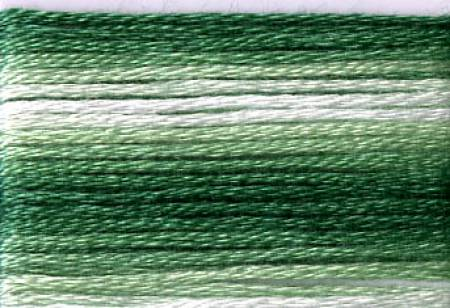 Cosmo 8023, Seasons Variegated Embroidery Floss 8m, Greens