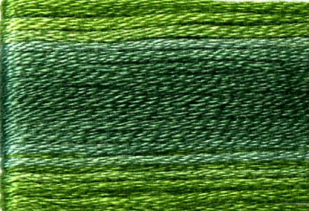 SE80-8024 Cosmo Seasons Green Variegated Embroidery Floss Dark Greens