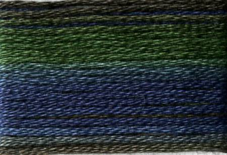 Cosmo Seasons Variegated Embroidery Floss Dark Greens/Blues