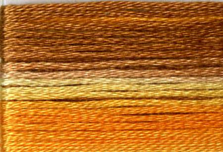 Cosmo Seasons Variegated Embroidery Floss Orange/Yellow/Brown