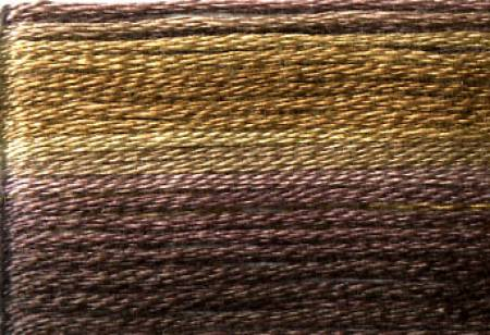 Cosmo Seasons Variegated Embroidery Floss Dark Browns